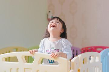 Cute little girl laugh.