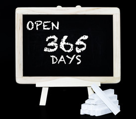 Open 365 days