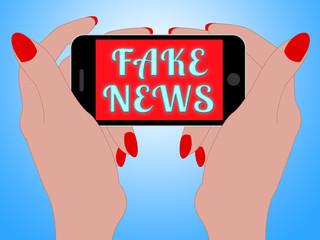 Fake News On Mobile Phone 3d Illustration