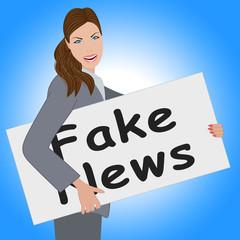 Fake News Card Being Held 3d Illustration