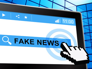 Fake News Tablet Computer Search 3d Illustration