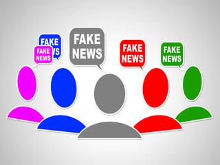Fake News Social Media Bubbles 3d Illustration