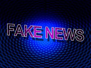 Fake News Meaning Misleading Falsehood 3d Illustration