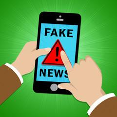 Fake News Disinformation Warning Sign 3d Illustration