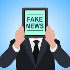 Fake News Tablet Meaning Alternative Facts 3d Illustration
