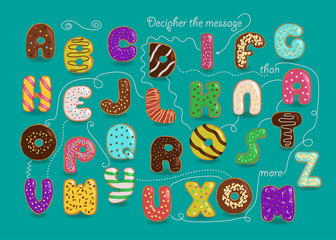 Romantic cipher text. I love you more than donuts