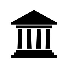 government building icon vector