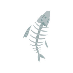 Fish skeleton, recycling garbage concept, utilize waste vector Illustration on a white background