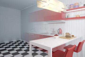Meine Küche in Rot (Vision)