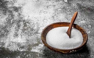 Salt in a bowl.