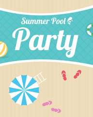 Summer night beach party flyer