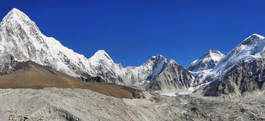 Pumori, Nuptse and Lhotse peaks views, Nepal