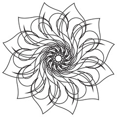 Abstract Monochrome Flower