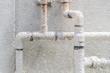Old metal water pipe