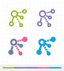 Circle Network - Zap & Tap Icons. A set of 4 professional, pixel-perfect icons .