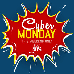nice and beautiful abstract or Sale Banner or poster for Cyber Monday with creative design illustration.