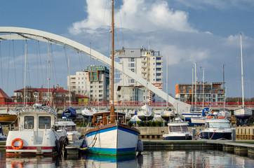 MARINA - Yachts on the port wharf
