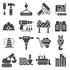Web icons set - building, construction