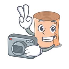 Photographer medical gauze mascot cartoon