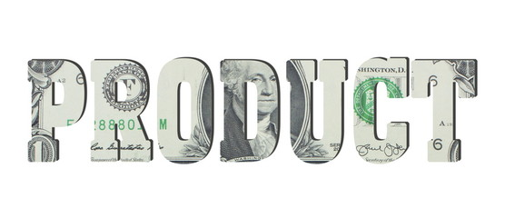 product. American dollar banknotes. Background with money
