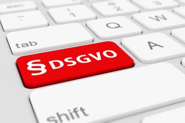 Computer Tastatur - DSGVO - Datenschutz Grundverordnung - EU