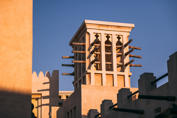 Old style buildings in Dubai