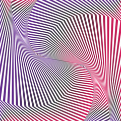 Optical art. Optical illusion background. Modern geometric background. Gradient vector pattern. Design for wallpaper, wrapping, fabric, background, backdrops, prints, banners.