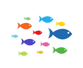 Fish Icons vector illustration