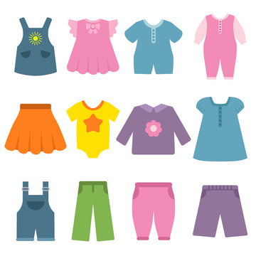 Pants, dresses and other different clothes for kids and babies