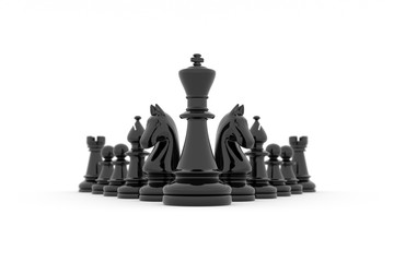 Chess team building strategy - King's leadership