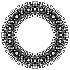 Abstract radial  frame