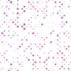 Pink seamless pentagram star pattern background - vector design