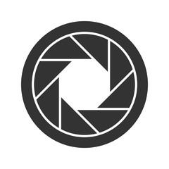 Diaphragm glyph icon