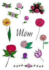 Muttertag Illustration Motherday handdrawn mom
