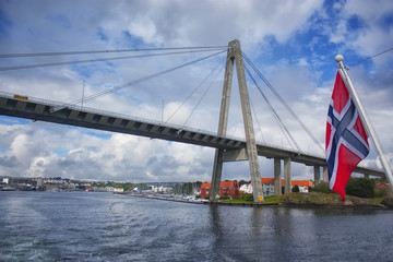 cable-stayed bridge in Norway