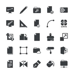 Modern Simple Set of folder, files, design Vector fill Icons. ..Contains such Icons as  color,  art, triangle, document, horizontal,  data and more on white background. Fully Editable. Pixel Perfect.