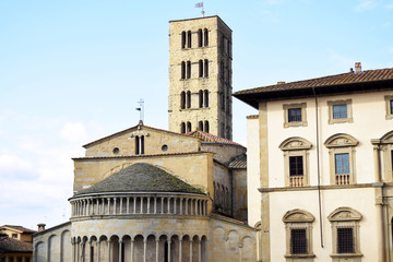The Cathedral of Arezzo seen from Piazza Grande - Arezzo - Tuscany - Italy