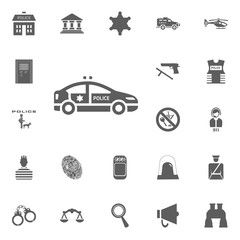 Police car icon. Police and juctice vector icon set.