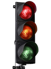 traffic light isolated on white background