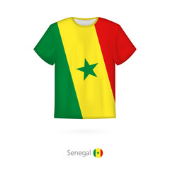 T-shirt design with flag of Senegal.