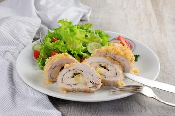 chicken in breadcrumbs