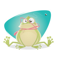 funny frog with tongue accident