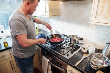 Cooking a Bolognese at Home