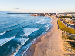 Aerial view of Cronulla, Sydney coastline.
