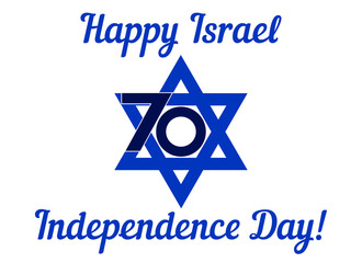 Israel Independence Day white background. Vector illustration