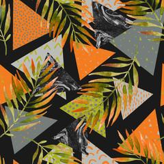 Keuken foto achterwand Grafische Prints Abstract summer geometric seamless pattern.