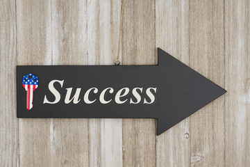 Success this way sign