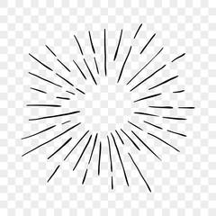 Sun burst sunshine rays lines vector icon