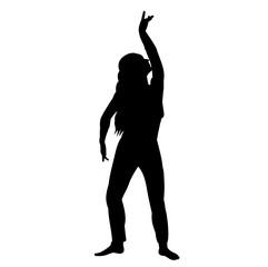 silhouette girl dancing oriental dance