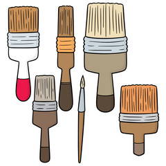 vector set of paint brush